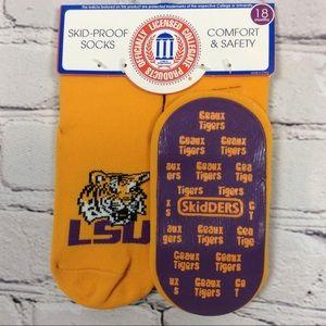 Skidders LSU Tigers Skid Proof Socks Tailgating
